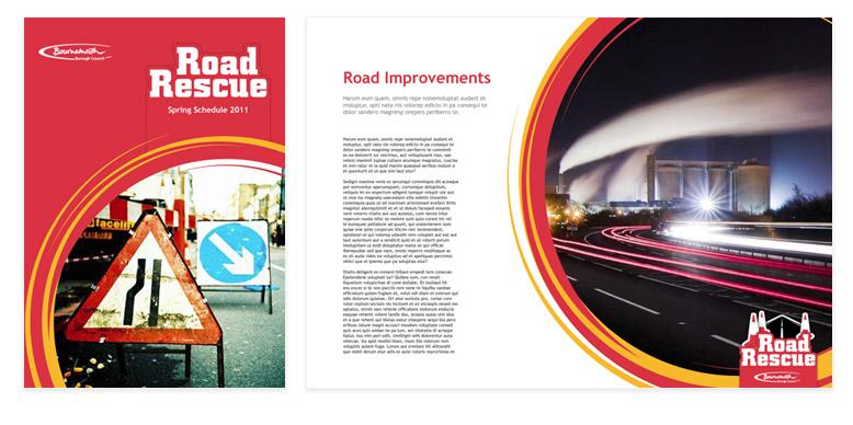 Bournemouth borough council road rescue printed literature
