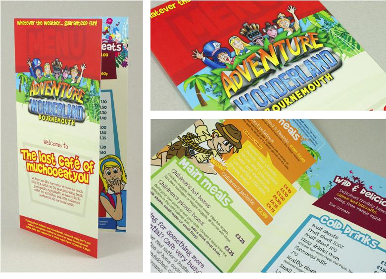 printed literature menu