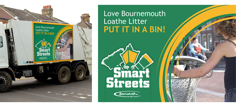 Bournemouth borough council smart streets posters