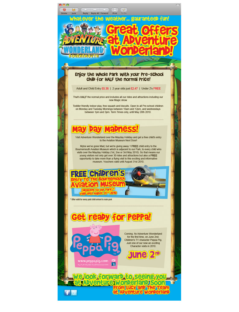 adventure wonderland html email marketing