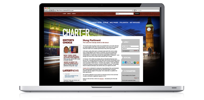 charter2010 cms web design