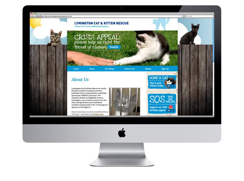 lymington cat and kitten rescue wordpress cms web design