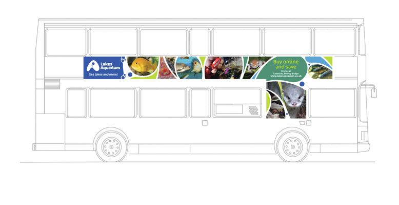 Lakes Aquarium busside advertising outdoor advertising