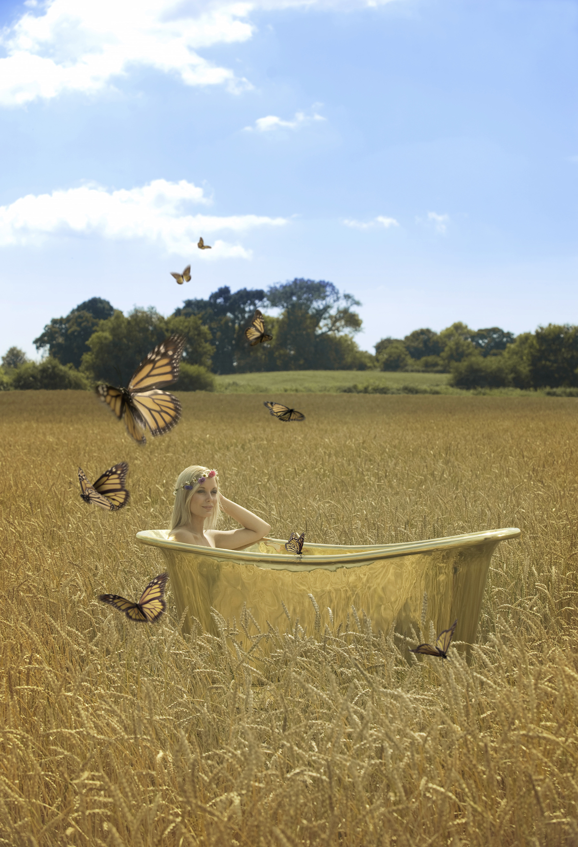 SummerBath - NEW Buttaflies small