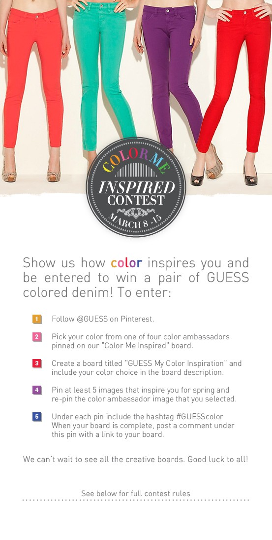 Guess Colour me Pinterest Campaign
