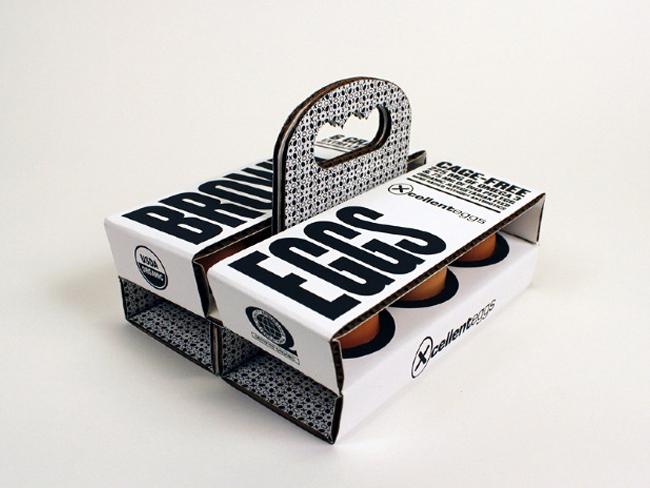 brown eggs packaging