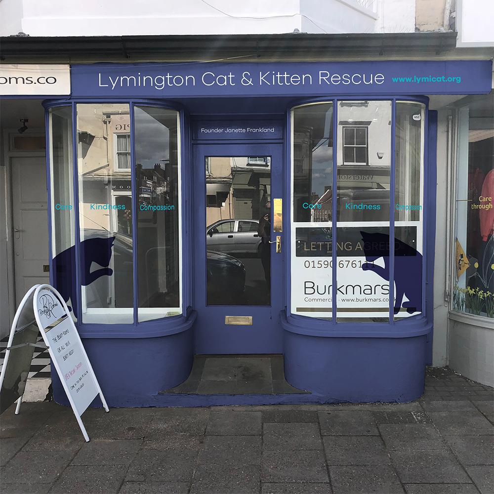 Lymington Cat & Kitten Rescue Shop Signage